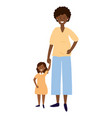 pregnant woman with child vector image