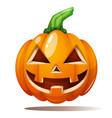 pumpkin horror fear happy vector image