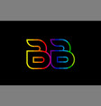 rainbow color colored colorful alphabet letter bb vector image vector image