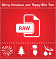 raw icon vector image vector image