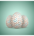 Realistic Easter Egg Painted Egg vector image vector image