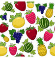 seamless pattern of juicy sweet fruits vector image vector image