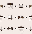 seamless pattern with goth accessories on beige vector image vector image