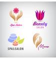 set cosmetics spa beauty salon vector image vector image