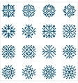 set of pixel snowflakes for patterns vector image