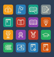 simple education icons set for website and mobile vector image