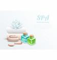 spa realistic gentle design concept vector image
