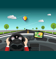 Steering wheel - driving car design with gps