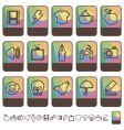tab icons vector image vector image