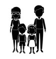 teachers couple with students avatars characters vector image vector image