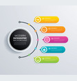 timeline 5 infographic design and marketing vector image vector image