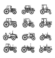 Tractor icons vector image