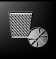 trash sign gray 3d printed vector image vector image