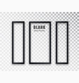 vertical frames mockup template isolated on vector image vector image