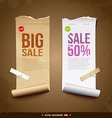 Vintage paper roll ripped vector image