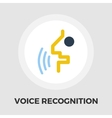 Voice recognition icon flat vector image vector image