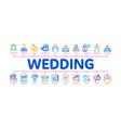 wedding minimal infographic banner vector image