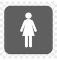Woman Rounded Square Button vector image vector image