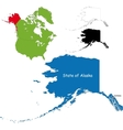 Alaska map vector image