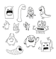 Set of doodle monsters icons vector image