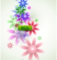 abstarct flowers vector image