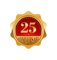 25 years anniversary golden label vector image vector image