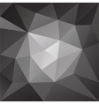 abstract black and white low poly background vector image vector image
