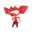 angry devil standing in threatening pose and vector image