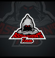 assassins team logo templare vector image