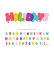 balloon comic font for kids funny colorful abc vector image