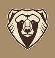 bear mascot icon vector image vector image