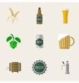 Beer Flat Icons vector image