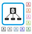 bitcoin cashout scheme framed icon vector image vector image