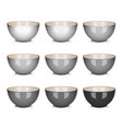 bowl set grey vector image