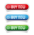 buy now button set vector image vector image