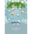 Christmas and New Year greeting card vector image