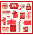 Christmas Gifts Set - Vintage Background vector image