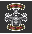 Classic biker embroidery vector image vector image