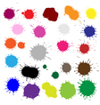 Color Blobs Stains Set vector image vector image