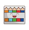 colors face class school instrument icon vector image vector image