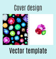 cover design with jewels gem pattern vector image