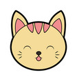 cute cat face cartoon vector image vector image