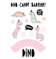 cute dinosaurs candy bar set vector image
