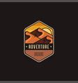 desert landscape adventure explore outdoor logo vector image vector image