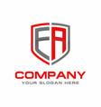 ea initial logo design vector image vector image