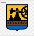 emblem of city of poland vector image vector image