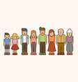 family cartoon icon graphic vector image vector image
