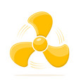fan icon in flat design vector image vector image