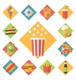 Fast food icons set for menu cafe and vector image vector image
