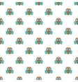 Gas mask pattern cartoon style vector image vector image